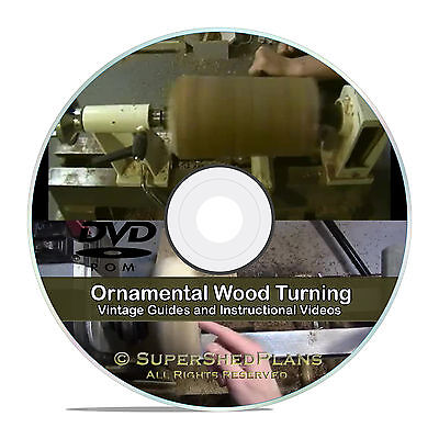 Ornamental Wood Turning, Woodworking Lathe Books, Guides, Project Videos, CD V62