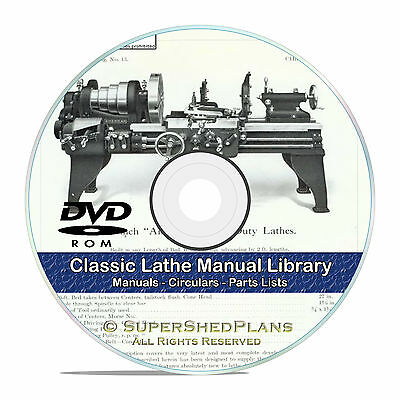 350 Lathe Owners Manuals, Instructions and Parts Lists, Atlas, Oliver CD DVD V46