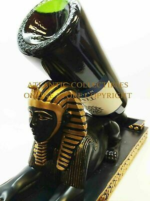 Ancient Egyptian Sphinx Wine Bottle Holder Guzzler Home Decor Lion and Pharaoh
