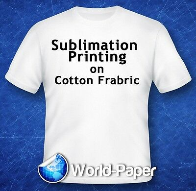 """Sublimation Printing on Cotton T-Shirts Light Fabric YL 11"""" x 17"""" 100 Sheet :)"""