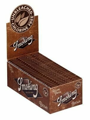 1 Box (50x) Smoking Brown No. 8 ungebleicht Zigarettenpapier regular kurz Braun