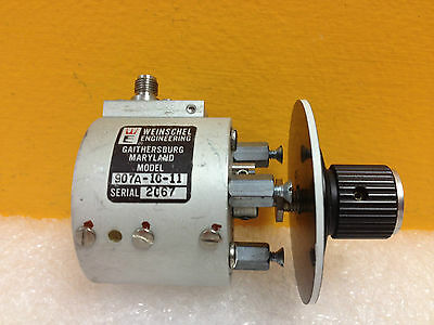 Weinschel 907A-10-11, DC to 2 GHz, 10 dB, SMA (F-F) Variable Attenuator