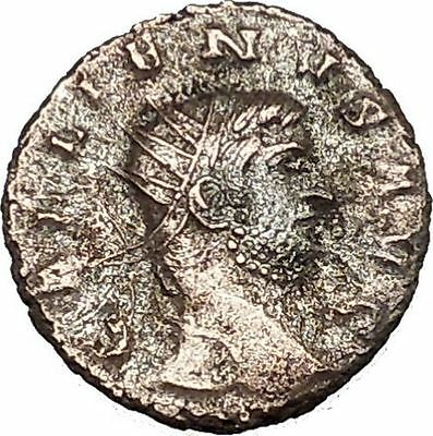 Gallienus son of Valerian I Ancient Roman Coin Pax Eirene Peace Cult  i39570