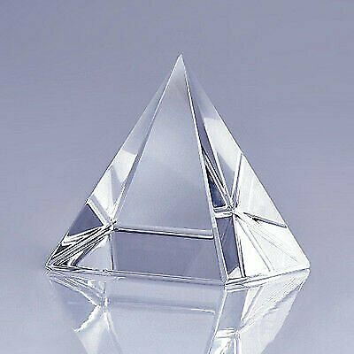 "High Quality Clear Crystal Pyramid 4"" with Gift Box"