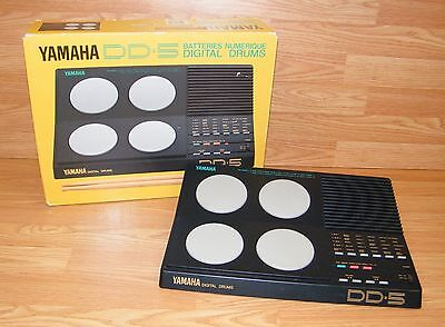 Vintage Yamaha (DD-5) Battery Operated Electronic Digital Drums w/ Box **READ**