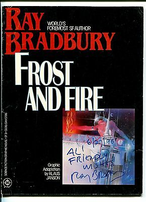 Ray Bradbury Sci-Fi Fantasy Author Frost And Fire Signed Autograph Graphic Book