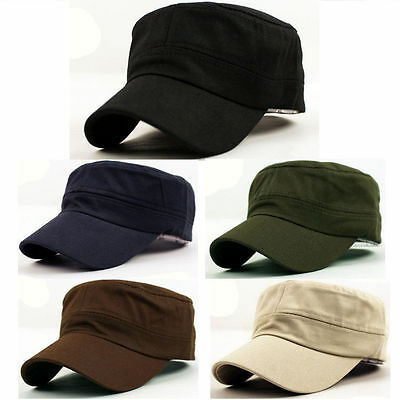 New Plain Army Cadet Patrol Castro Military Style Hat Cap Charcoal Colorful