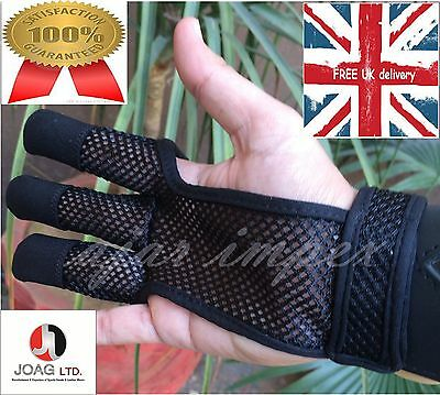 Archers Mesh Shooting 3 Fingers Glove-Archery Mesh Gloves, Leather Free Gloves