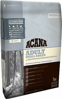 2kg Acana Heritage Small Breed Adult Grain Free Dry Dog Food