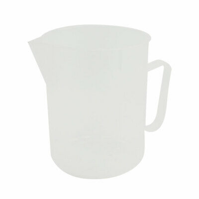 Lab Clear White Plastic Handle Water Liquid Measuring Cup 1000mL