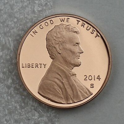 2014-S Lincoln Proof Cent, Deep Cameo Proof Penny in Crystal Clear Coin Capsule