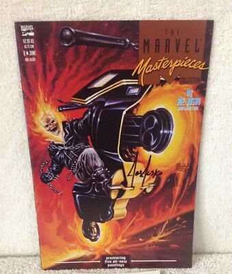 GHOST RIDER The Marvel Masterpiece Collection #2 Signed by JOE JUSKO