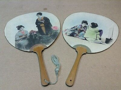 "Vintage Japanese  Fans 14 1/2"" In Length"