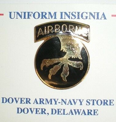Wwii Us Army 17Th Airborne Pin - Current Production - Great For Caps/jackets!
