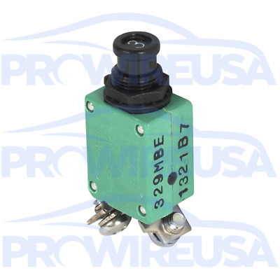 Klixon 2TC2-3 Circuit Breaker 3 Amp Aviation Mil Spec MS3320-3 Motec Nascar MSD