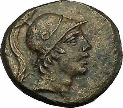 AMISOS Asia Minor 200BC ARES God Cult  Zodiac SWORD Ancient Greek Coin  i39684