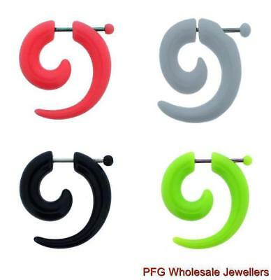 1pc Acrylic Spiral Cheater Fake Ear Ring Horn Taper Expander Plug Body Piercing