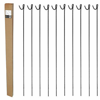 1.3m METAL STEEL FENCING PINS ROAD PIN STAKES POSTS  x 10  for Temporary Fencing