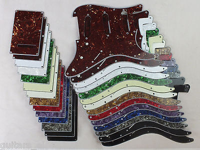 SSS SCRATCH PLATE Pickguard SET to fit import style STRATOCASTER in 14 Colours