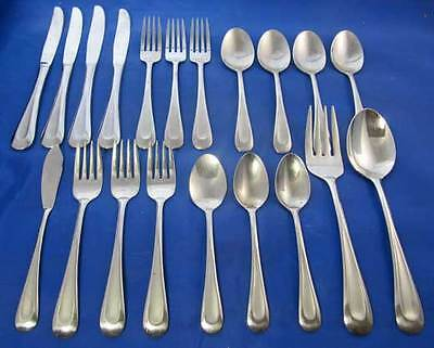 20 pcs Oneida 18/8 Satin SAND DUNE Stainless Flatware Set