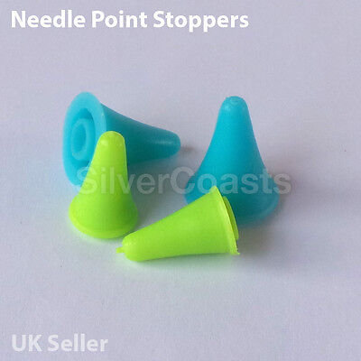 Needle Point Stoppers, Point Protectors, Stitch Stoppers - UK stock
