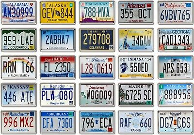 FRIDGE MAGNET - License Plates (Various Designs)- US States American licence