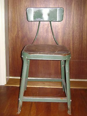 Antique Green Industrial Metal Machinist Stool Pinterest Repurpose