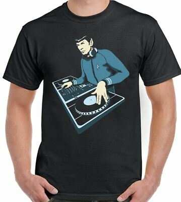 DJ Spock - Mens Funny T-Shirt Dance Music Decks Turntable Star Trek
