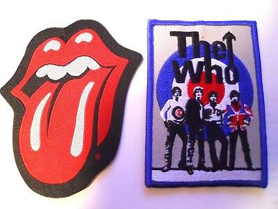 New The Who Rolling Stones London England Rock & Roll Patches Retro Bands