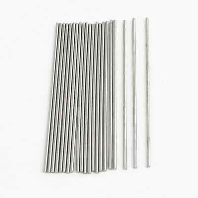 20pcs 50mm x 1mm Silver Tone Stainless Steel Transmission Round Rod