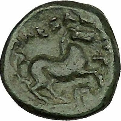 Alexander III the Great 336BC Ancient Greek Coin Apollo Healer Cult Horse i39862