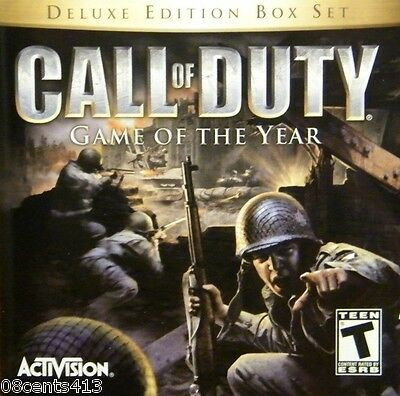 Call of Duty: Game of the Year Deluxe Edition (Windows 98/ME/2000/XP) w/ Manual