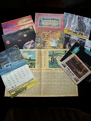 LOT Vintage CALENDARS ADVERTISING Promotional HISTORICAL Wildlife Etc Lot of 11