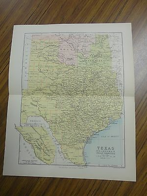 Nice color map of the State of Texas.  Printed 1892 by Chambers.