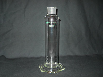 Chemglass Glass 500mL Tall Form Gas Washing Bottle with 34/28 Joint