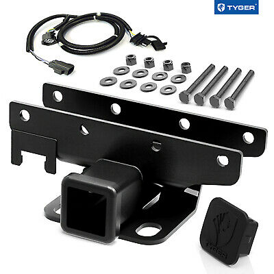 Custom Fit 07-15 Wrangler JK TYGER Towing Kit: Receiver Hitch & Wiring & Cover