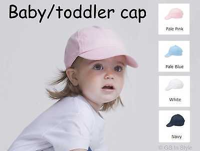 Baby Toddler Kids Peaked Baseball Summer Cap Hat Boys Girls Pink White Blue Navy