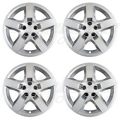 """17"""" SILVER """"Bolt-On"""" Wheel Covers / Hubcaps FOR Chevy Malibu / Pontiac G6"""