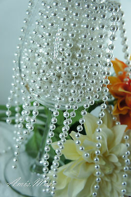 1.5 Meter 6mm Cream Pearl Garland String for Wedding//Bridal//Corsages//Decorations