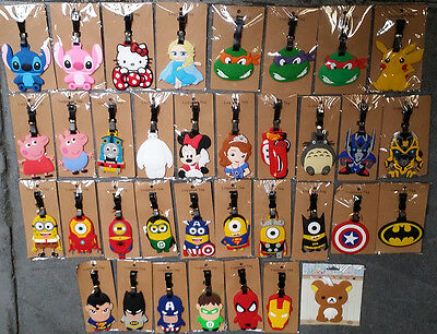 Minions Batman Sipderman ninja turtles  iron man totoro  Luggage tag school bag