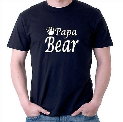 Papa Bear Men's T-Shirt with bear claw. funny gift for Dad Father Granddad Pop