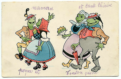 COUPLES GRENOUILLES HUMANISéES.  HUMANIZED FROG COUPLES.