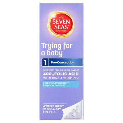 Seven Seas Trying For A Baby Vitamins - 28 one-a-day pills NEW