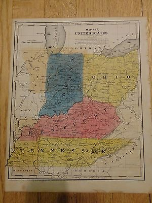 Nice hand colored map #7 of the US (Midwest) Circa 1848 by Roswell C. Smith, A.M