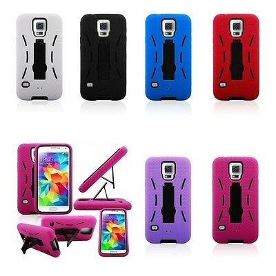 2in1 Hybrid Stand Heavy Duty Phone Case Cover for Samsung Galaxy S5 i9600
