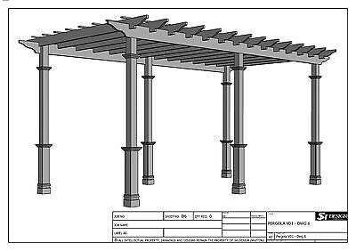 GRAPE VINE PERGOLA - OUTDOOR PATIO COVER V1 - Full Building Plans