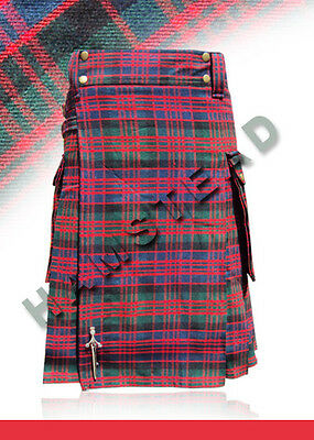 Scottish Highland Wears Active Men Modern Fashion McDonald Tartan Utility Kilts