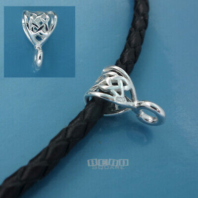 2 PC .925 Sterling Silver Web Pendant Bail Connector w/ Open Loop #33497
