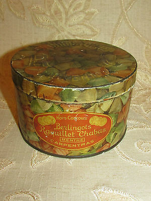 Vintage Collectable Berlingots Raquillet Chabas Menthe Carpentras Tin Box