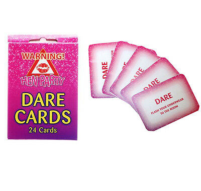 Pack Of 24 Hen Night Out Party Dare Card Girls Accessories / Wedding Favours